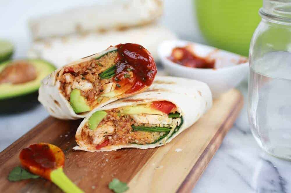 Grilled Tex-Mex Chicken and Qunioa Wraps-13