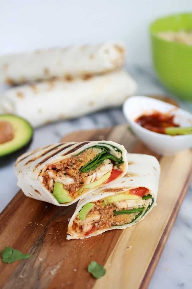 Grilled Tex-Mex Chicken and Qunioa Wraps-4
