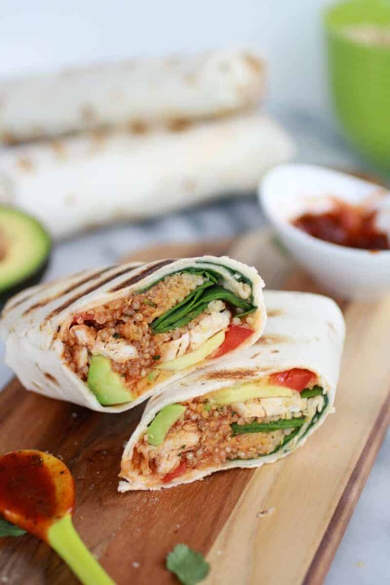 Grilled Tex-Mex Chicken and Qunioa Wraps-5