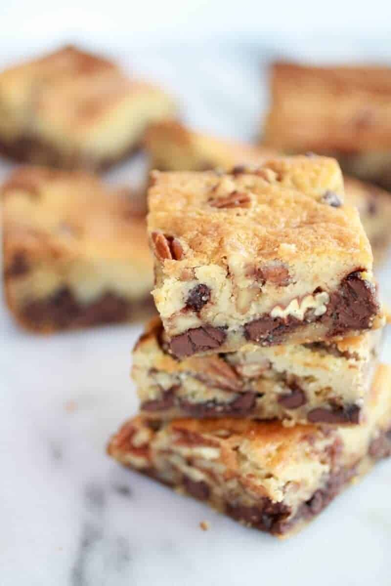 Kentucky Derby Pie Chocolate Chip Cookie Bars | https://www.halfbakedharvest.com/