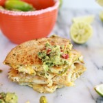 Margarita Chicken Quesadilla with Margarita Guacamole