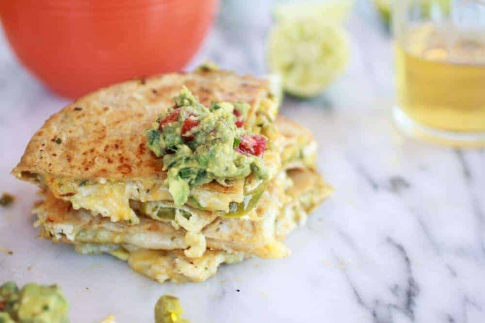 Lisa Jones's Chicken And Cheese Quesadillas