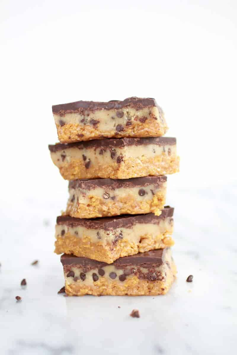 Skinny Chocolate Chip Cookie Dough Special K-Bars-7