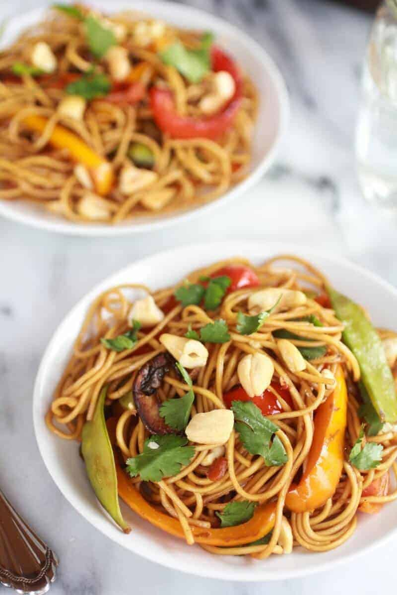 Vegetable Lo Mein Recipe Dishmaps
