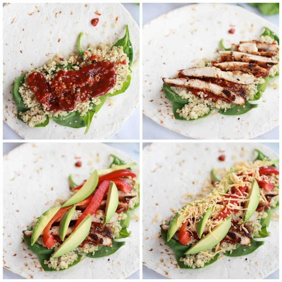 Tex Mex Chicken and Quinoa Wraps