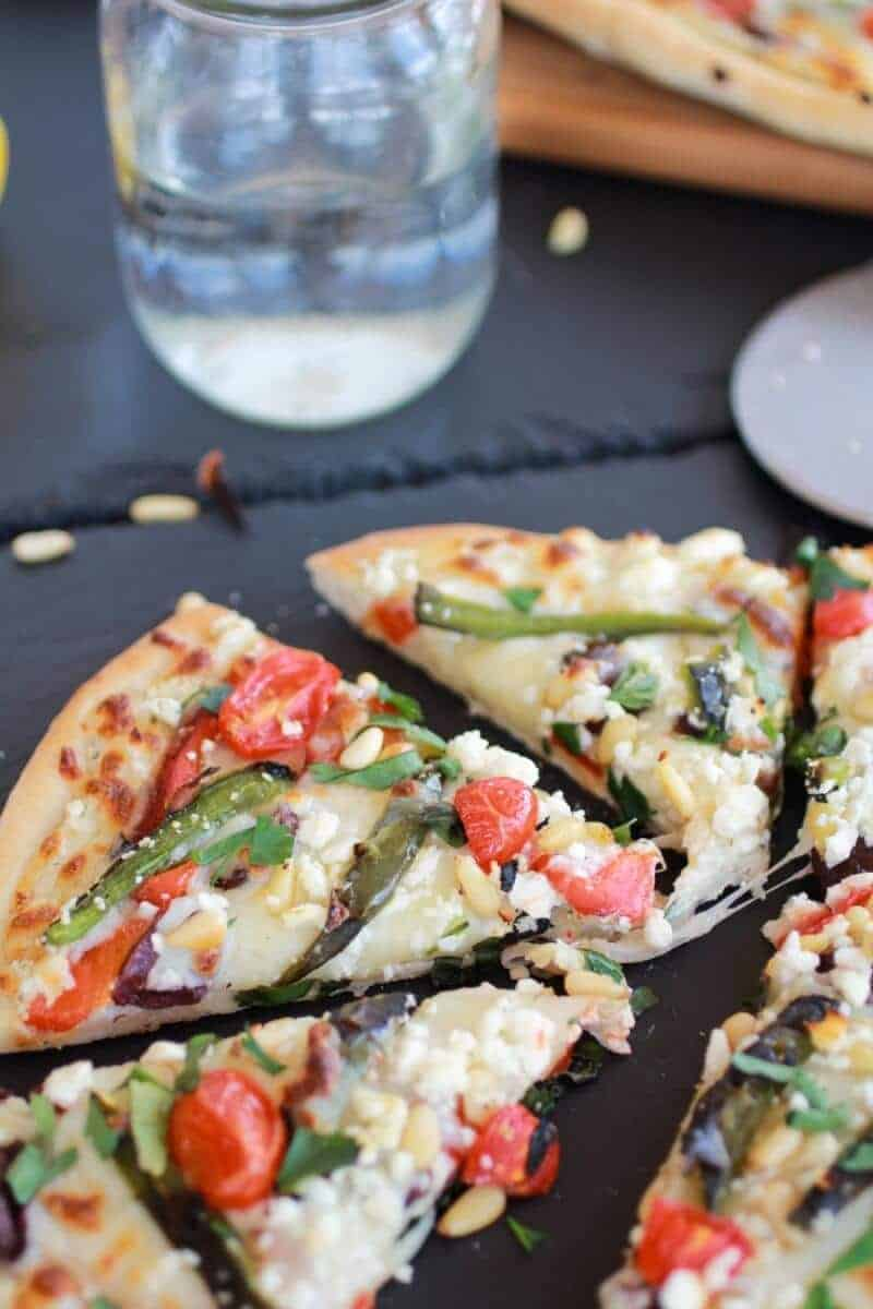 Whipped Feta and Roasted Jalapeño Greek Pizza http://www.halfbakedharvest.com/