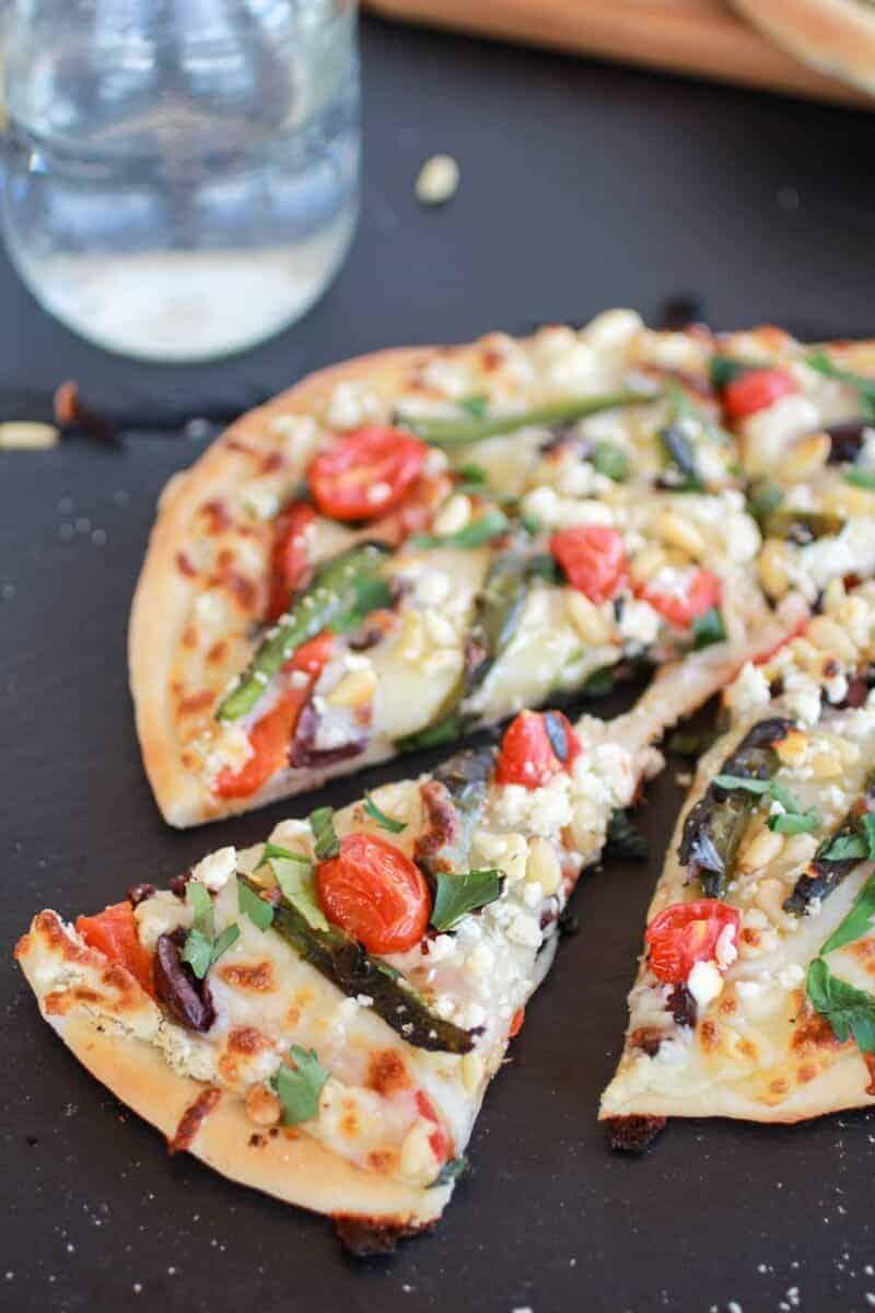 Whipped Feta and Roasted Jalapeño Greek Pizza http://www.halfbakedharvest.com/