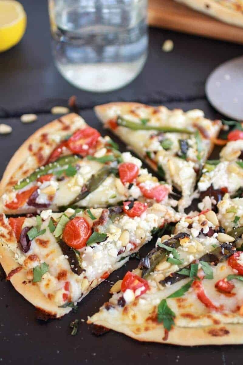 Whipped Feta and Roasted Jalapeño Greek Pizza https://www.halfbakedharvest.com/