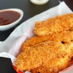 Cajun BBQ Cheddar Chicken Fingers.