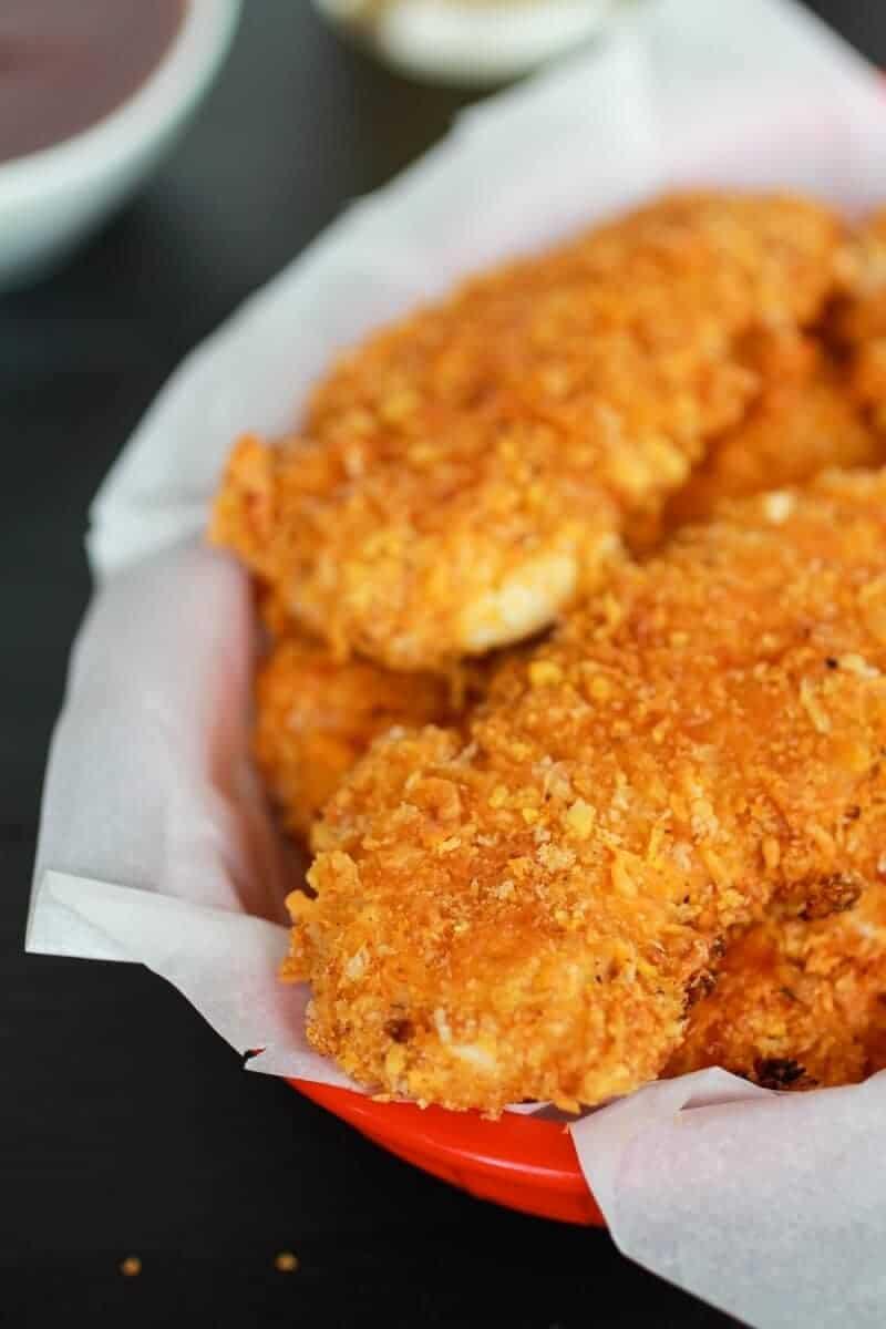 Cajun BBQ Cheddar Chicken Fingers | https://www.halfbakedharvest.com/