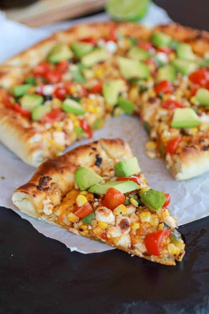 Grilled Corn and Chipotle Pesto Pizza with Queso Fresco | http://www.halfbakedharvest.com/