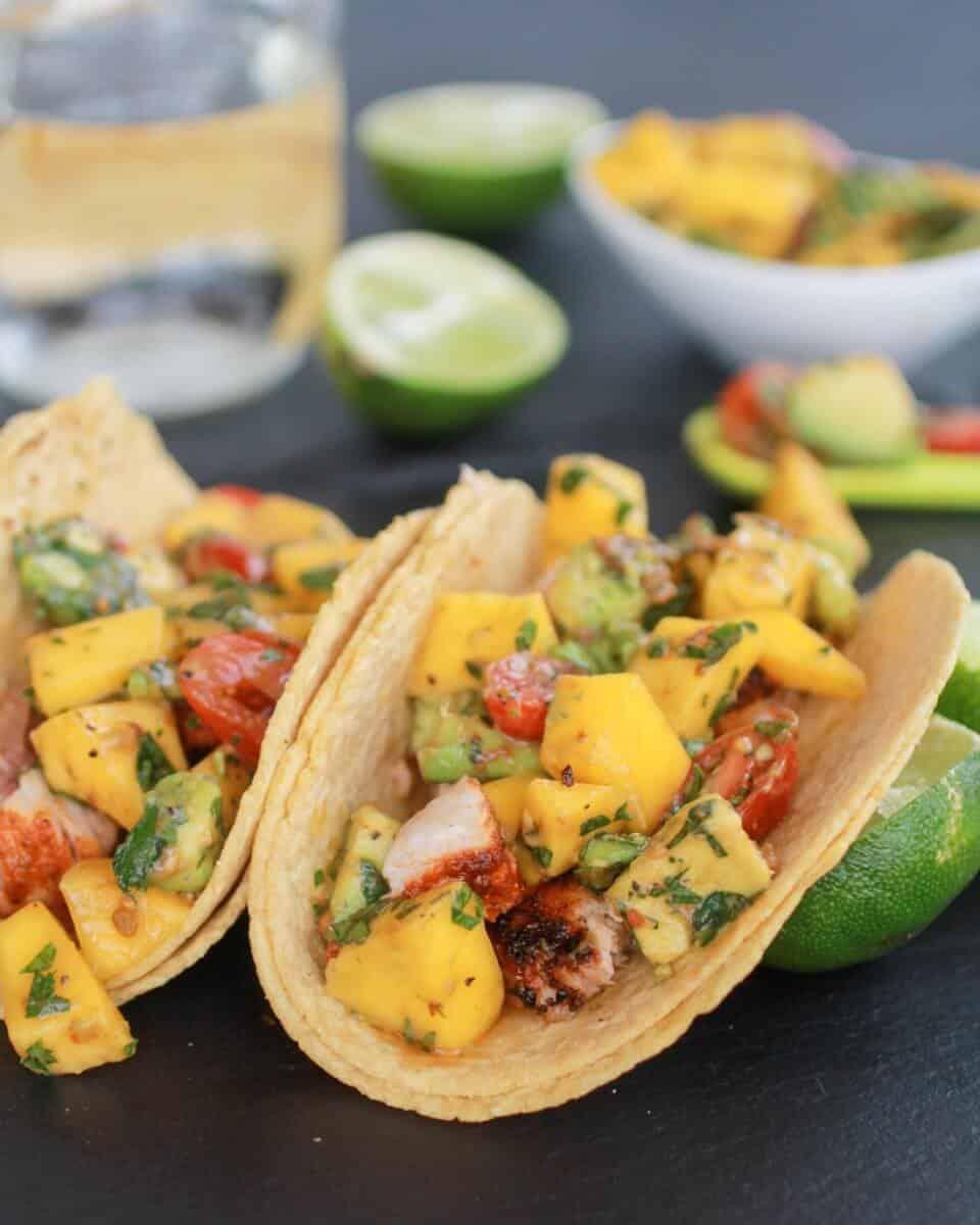 Mahi Mahi Fish Tacos with Chipotle Mango Salsa-1