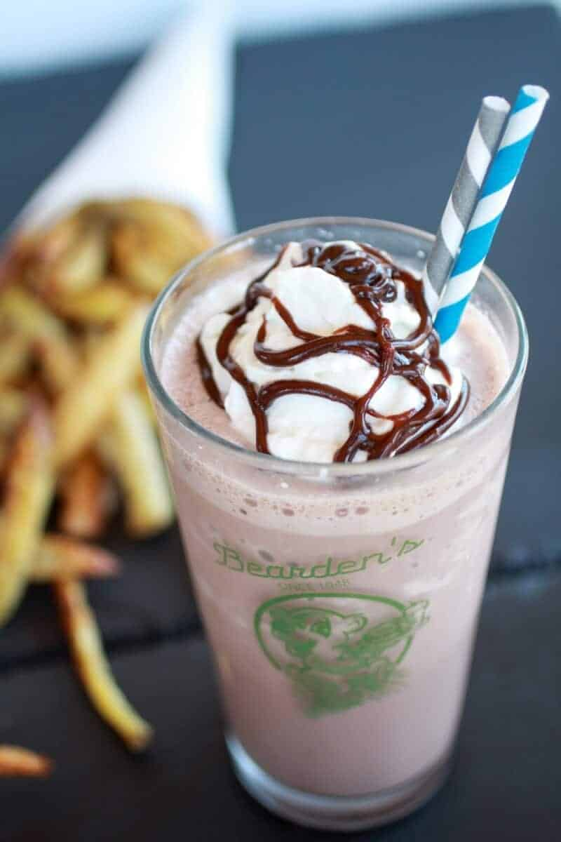 Peanut Butter Burgers with Slim Jim Fries and Chocolate Malted Milkshake | http://www.halfbakedharvest.com/