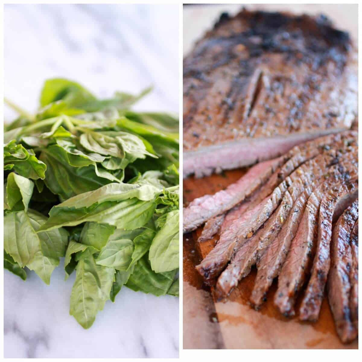 Greek Steak and Pesto Salad Gyros | http://www.halfbakedharvest.com/