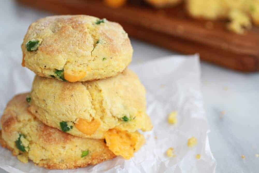Sweet Honey Jalapeño Cheddar Cornbread Biscuits - Half Baked Harvest