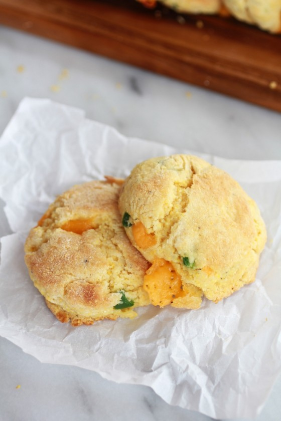 Sweet Honey Jalapeño Cheddar Cornbread Biscuits-12