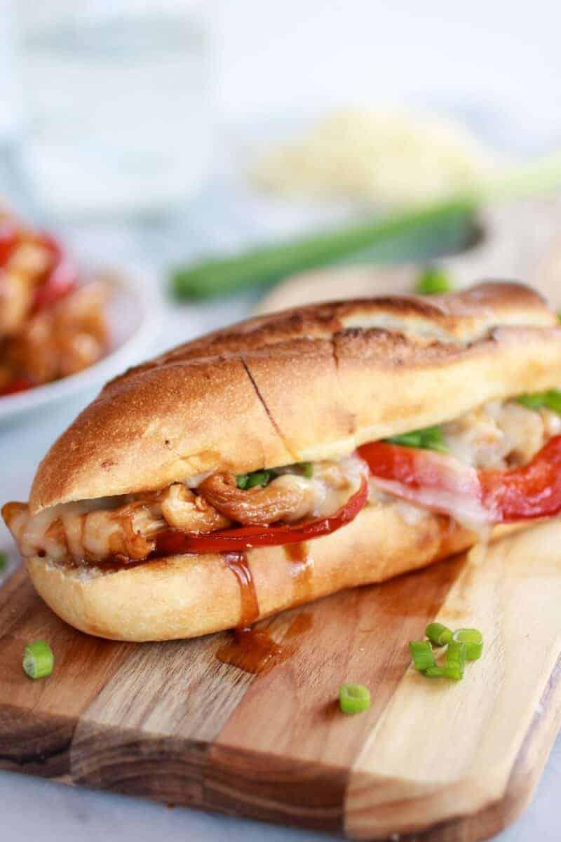 Teriyaki Chicken Sub Sandwiches | https://www.halfbakedharvest.com/