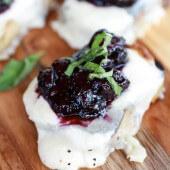 Blueberry Basil Balsamic Mozzarella Crisps-8