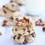 Burnt Peanut Butter Caramel Oatmeal Cookies-15