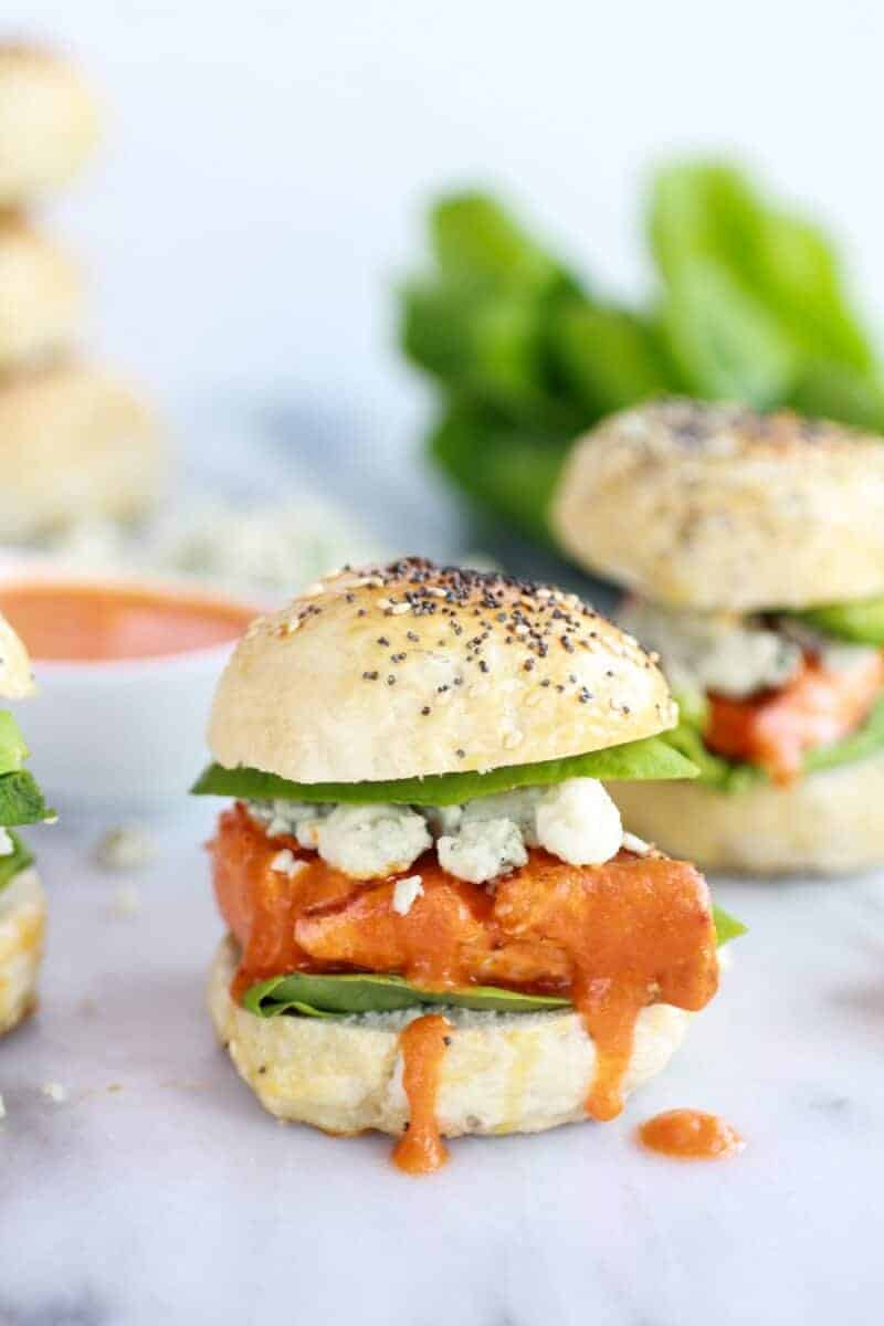 Crispy Buffalo Style Salmon Sliders-4
