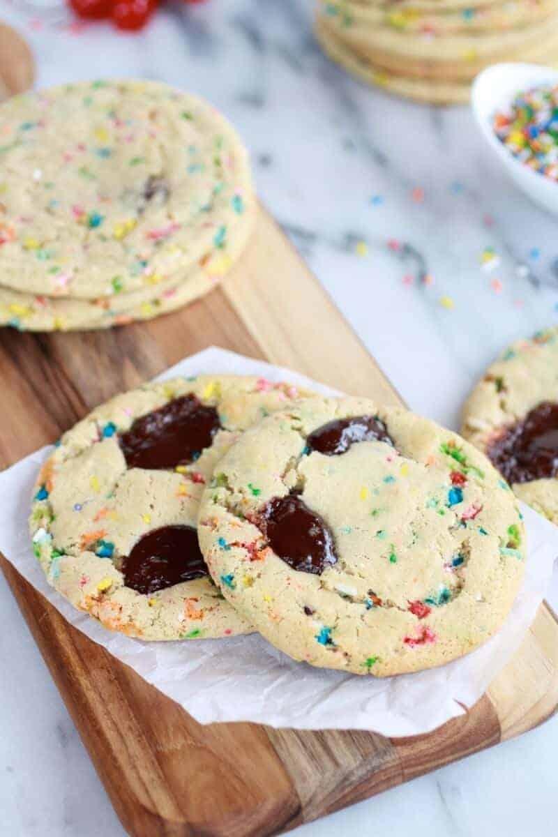 Giant Hot Fudge Ice Cream Sundae Cookies | halfbakedharvest.com