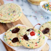 Giant Hot Fudge Ice Cream Sundae Cookies-4