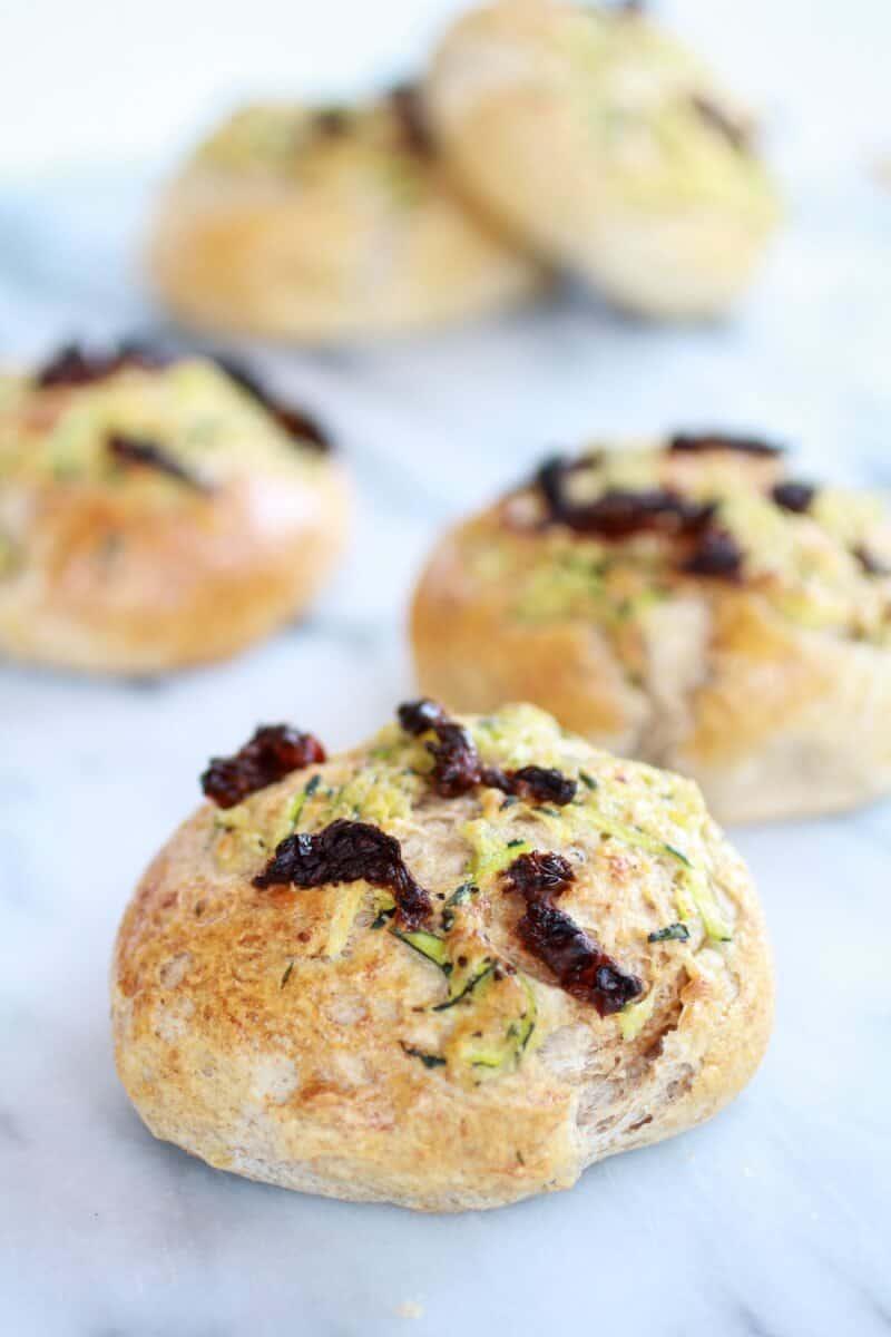 Parmesan Garlic Zucchini Whole Wheat Focaccia Buns | halfbakedharvest.com