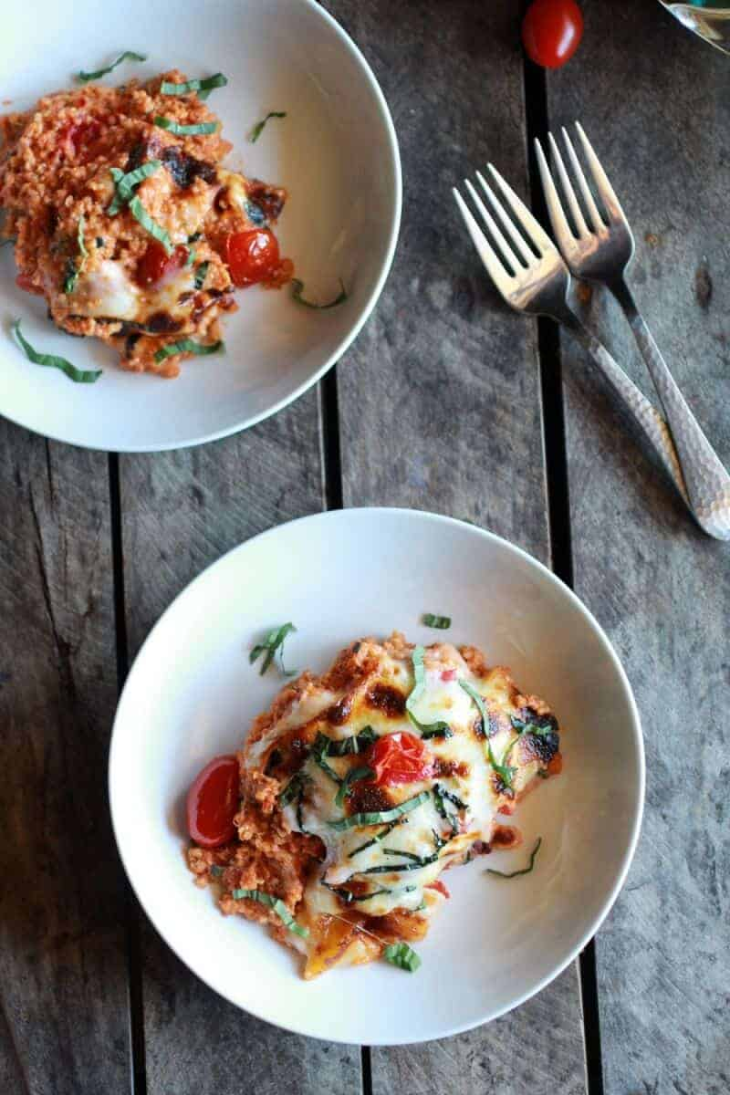 Creamy Caprese Quinoa Bake | halfbakedharvest.com/