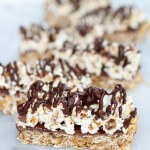 Dark Chocolate Cappuccino Popcorn Granola Bars