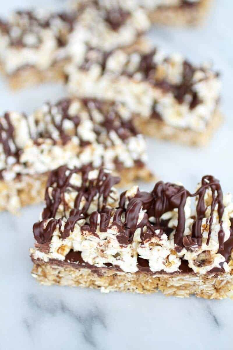 Dark Chocolate Cappuccino Popcorn Granola Bars | halfbakedharvest.com/