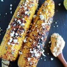 Exactly How I Grill My Corn + Chipotle Lime and Cotija Cheese Butter
