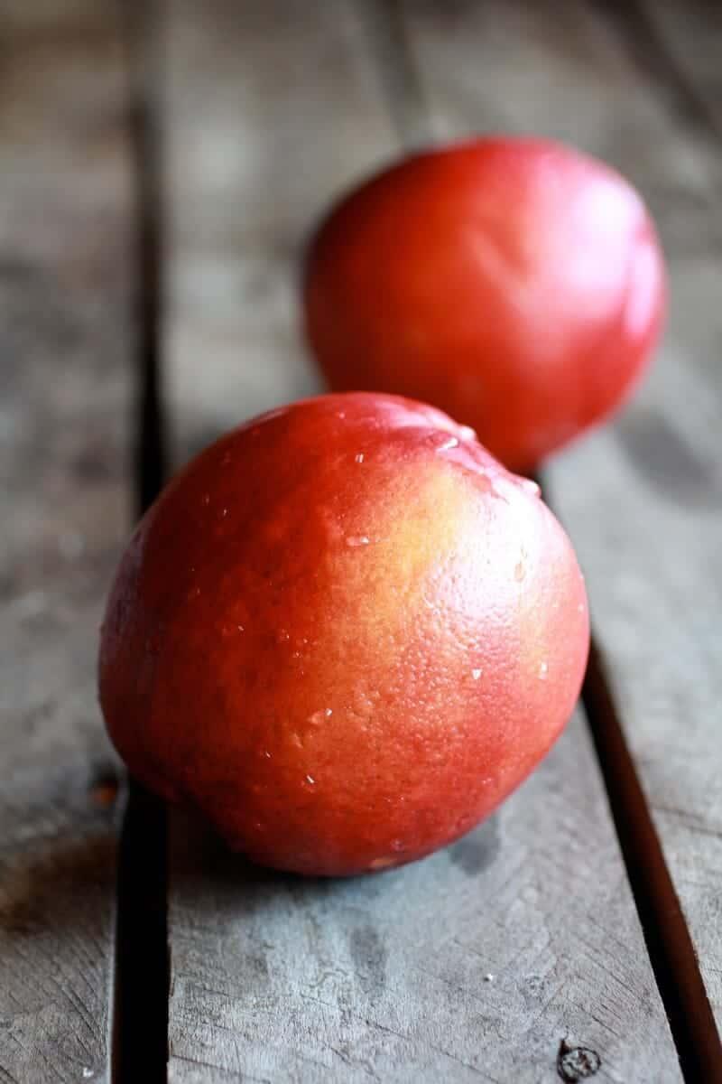 Fried Mozzarella, Basil and Nectarine Stacks with Balsamic Glaze | .halfbakedharvest.com
