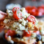 Loaded Greek Goddess Chickpea and Quinoa Pita Chip Nachos