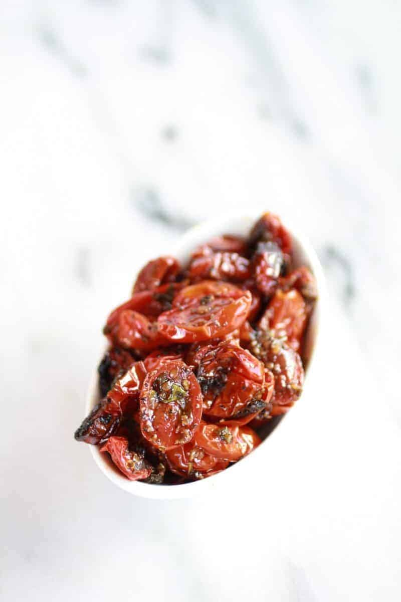 Pesto Protobella Mushroom or Chicken Burgers with Marinated Roasted Tomatoes   halfbakedharvest.com