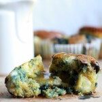 Roaste Blueberry and Brie Cornbread Muffins with Warm Honey Butter-10