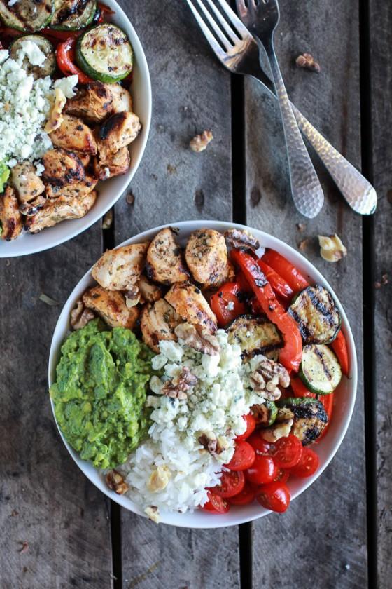 California Chicken, Veggie, Avocado and Rice Bowls-1