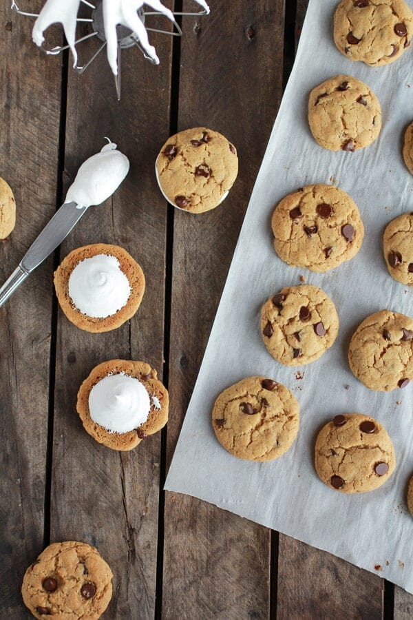 Chocolate Chip Banana FlufferNutter Sandwich Cookies | halfbakedharvest.com