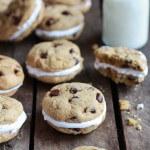 Chocolate Chip Banana FlufferNutter Sandwich Cookies-7