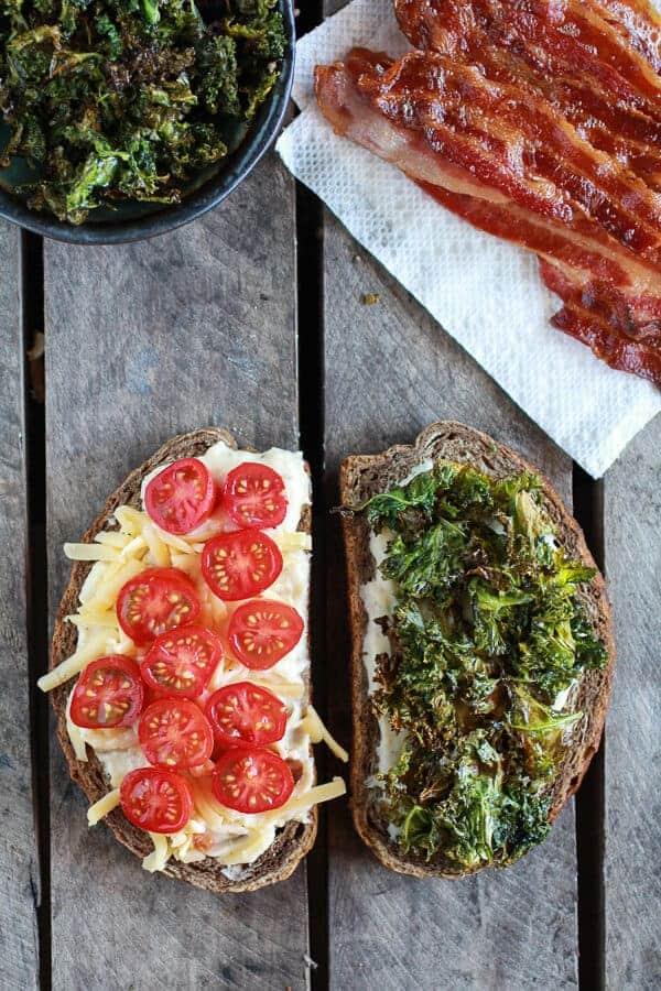Crispy Kale BLT Croque Madame with Smoked Gouda + Avocado | halfbakedharvest.com