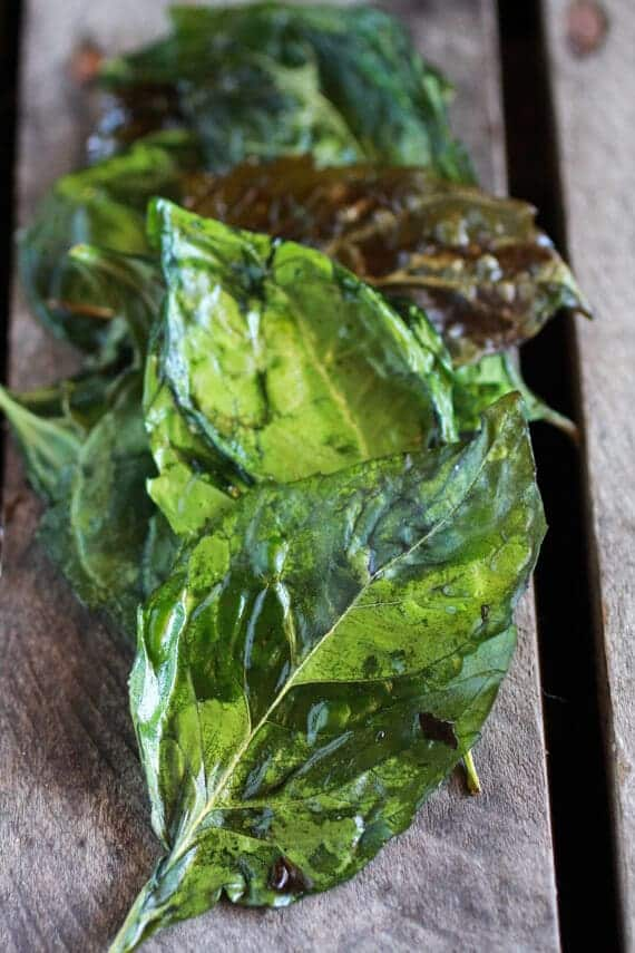 Simple Crispy Basil Caramelized Garden Vegetable + Fontina French Bread Pizza   halfbakedharvest.com