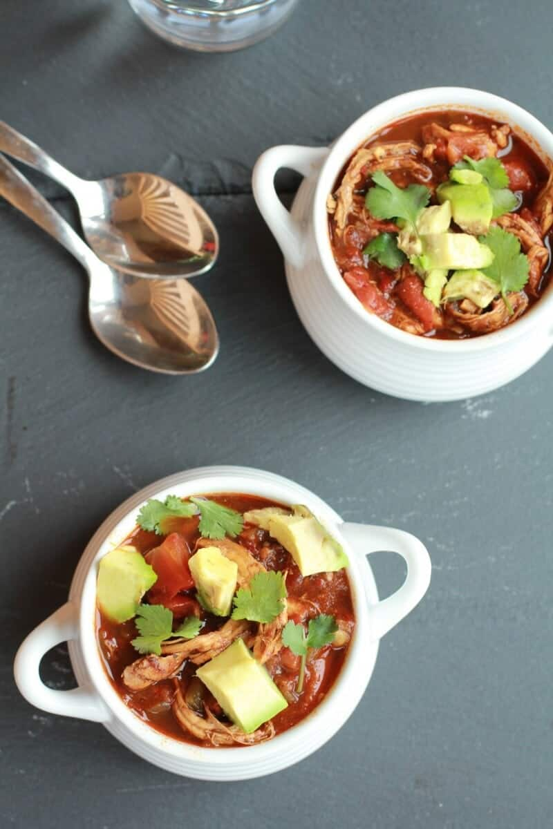 Smoky Chipotle Chocolate Chicken Chili