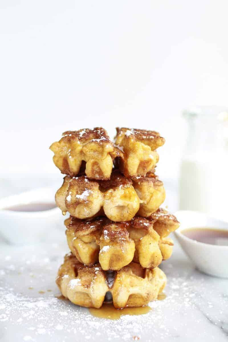 Mini Whole Wheat Cinnamon French Toast Waffle Dunkers | halfbakedharvest.com
