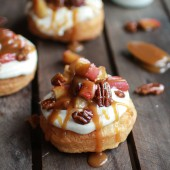 Apple Pecan Pie Cronuts with Apple Cider Caramel Drizzle-1