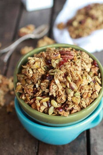 Brown Butter Pumpkin Seed and Espresso Glazed Big Cluster Granola