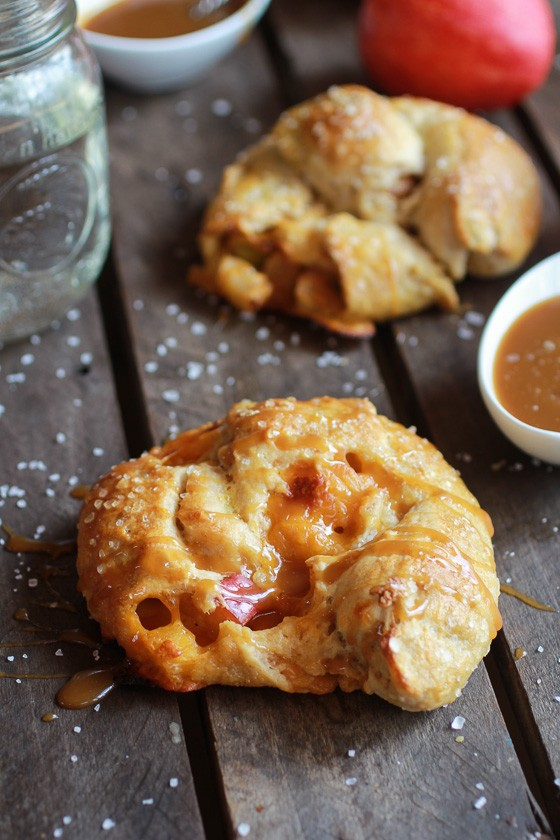 Caramelized Apple + Cheddar Cheese Soft Pretzels with Apple Cider Dipping Sauce-1
