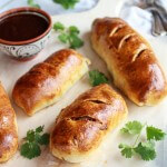 Caramelized Onion and BBQ Chicken Strombolis