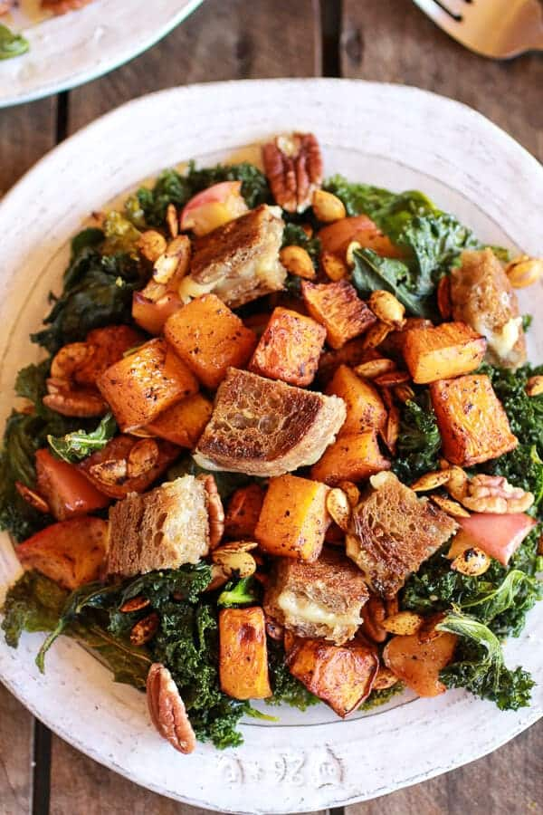 Warm, Crisp And A Little Melty Salad Croutons Recipe — Dishmaps