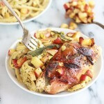 Crispy Prosciutto and Sage Wrapped Chicken with Creamy Pistachio Noodles