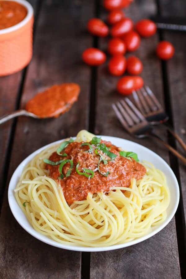 Crockpot Brown Butter Marinara Sauce-1