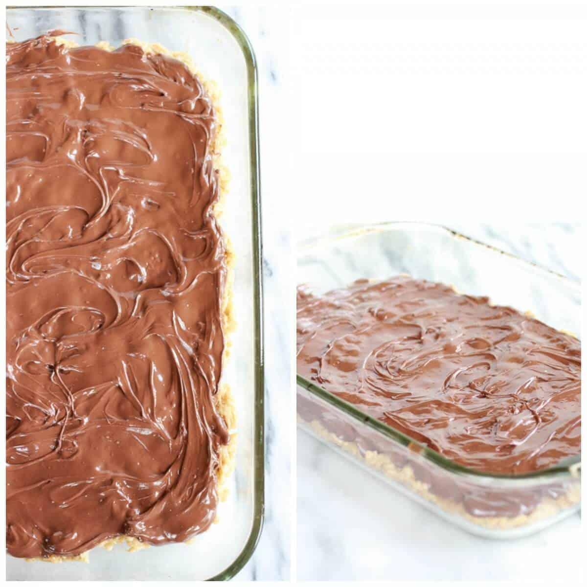 Brown Butter Vanilla Bean and Nutella Swirled Rice Krispie Treats   halfbakedharvest.com